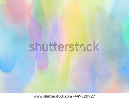 Abstract colorful watercolor for background. Digital art painting. #449320927