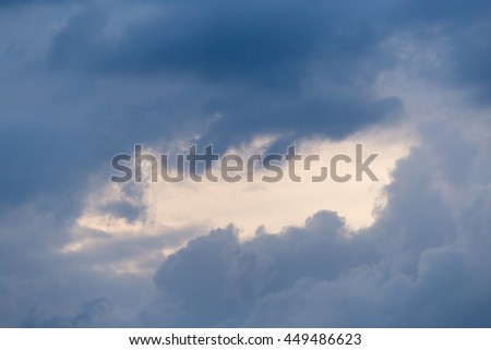 storm clouds in the sky as the background #449486623