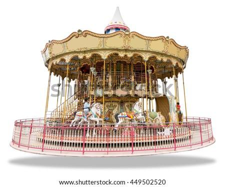 Merry go round isolated on white background #449502520