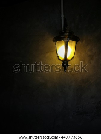 lamp light on the wall #449793856