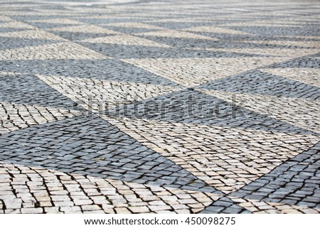 Paved Road in Lisbon, Portugal #450098275
