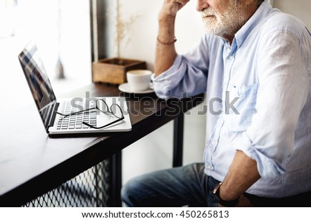 Coffee Shop Connection Laptop Leisure Casual Concept #450265813