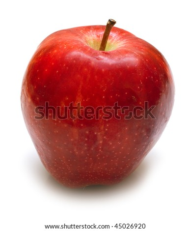 Juicy red apple on white. Isolation on white. #45026920