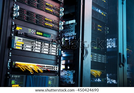 working a computer server for latticed doors. Royalty-Free Stock Photo #450424690