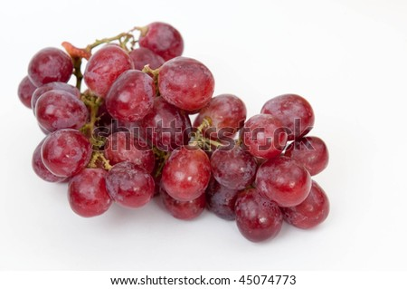 red grapes, isolated on white #45074773