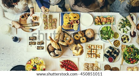 Food Cuisine Culinary Buffet Party Concept #450851011