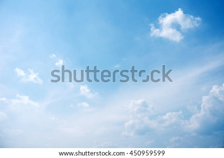 Blue sky and clouds         #450959599