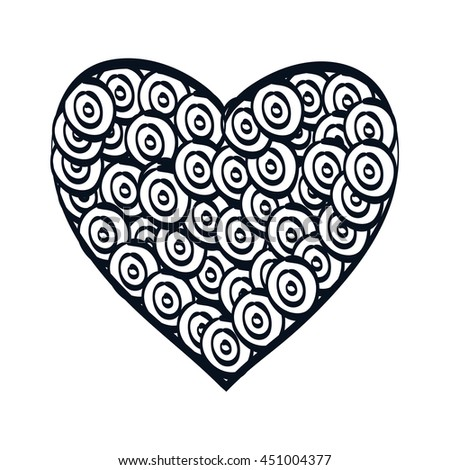 Decorative and beautiful heart design, vector illustration graphic. #451004377