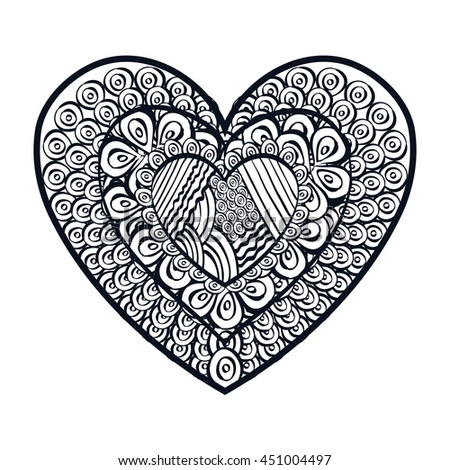 Decorative and beautiful heart design, vector illustration graphic. #451004497