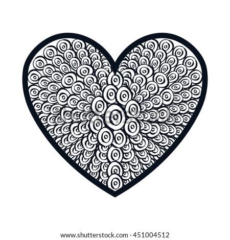 Decorative and beautiful heart design, vector illustration graphic. #451004512