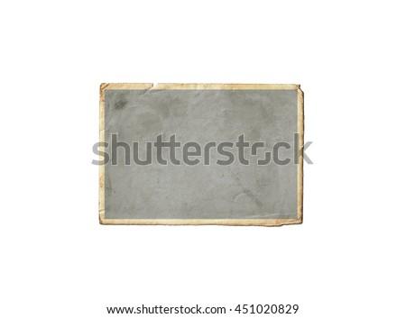 Old photo frame isolated on white background