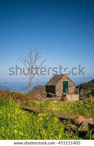 Cute, little building in Chao da Ribeira, Madeira, Portugal #451111405