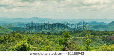 mountain summer landscape #451188943