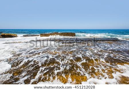 Colorful Hot Summer Landscape of (mediterranean) Koru Beach, Gazipasa #451212028