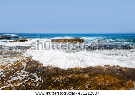 Colorful Hot Summer Landscape of (mediterranean) Koru Beach, Gazipasa #451212037