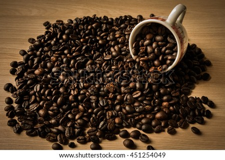 coffee beans with art lighting #451254049