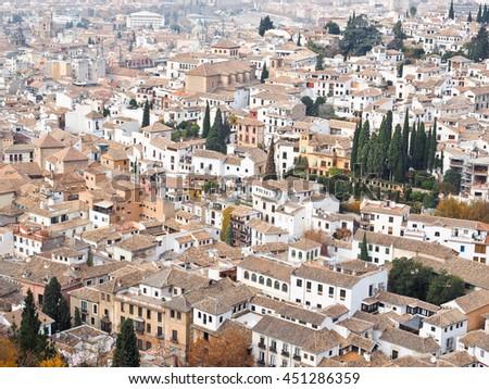 Cityscape of Granada in Spain #451286359