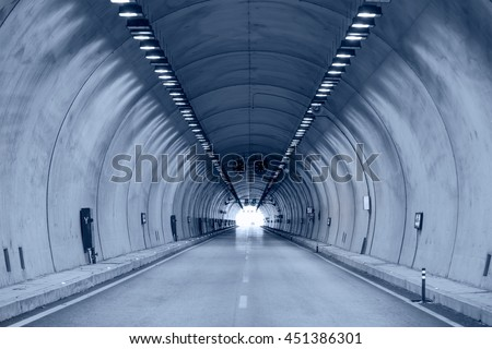 highway road tunnel #451386301