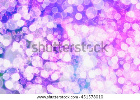 Festive background with natural and bright lights. Vintage Magic background with colorful . Spring Summer Christmas New Year disco party background #451578010