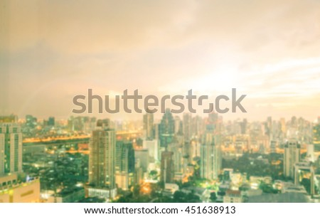 Abstract blurred city background. #451638913