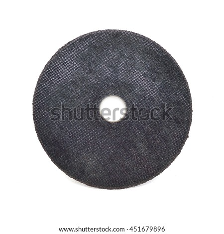 Abrasive disk for metal grinding isolated on white #451679896