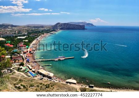 Summer sea landscape #452227774
