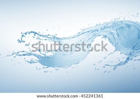 Water,water splash isolated on white background #452241361