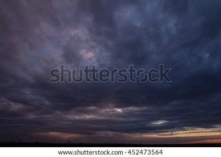 Colorful sunset with clouds #452473564