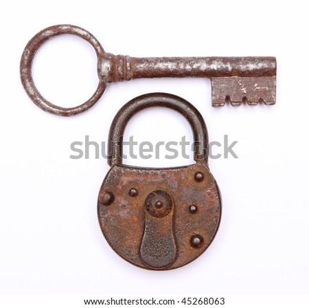 vintage keys and padlock #45268063