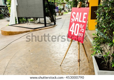 red Banner Signage discount