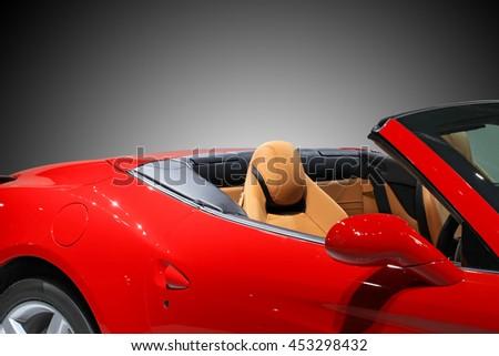 road trip, travel in convertible car #453298432