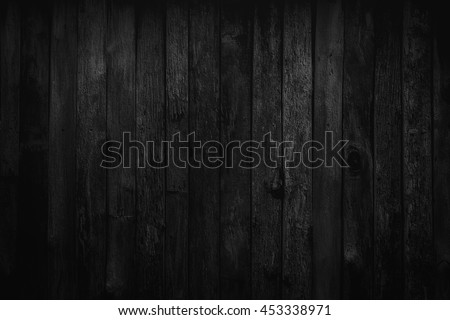 Wood Black background texture high quality closeup. May be used for design as background. Copy space #453338971