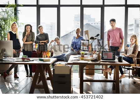 Worker Team  Business Corporate Coworkers Concept #453721402
