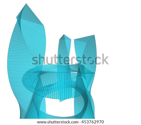 abstract architecture 3d illustration #453762970