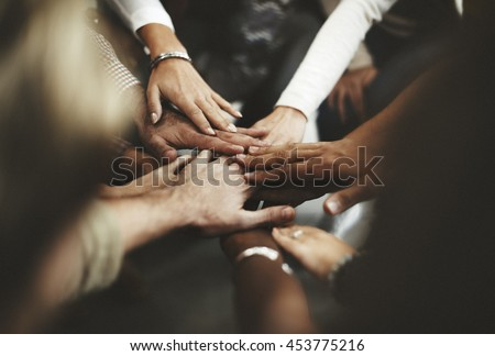 Teamwork Join Hands Support Together Concept #453775216