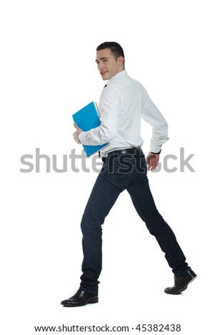 young office worker with files #45382438