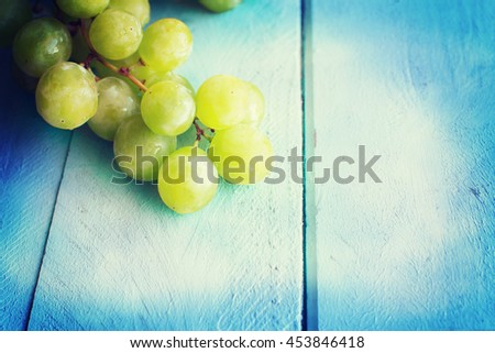 Bunch of green grapes #453846418