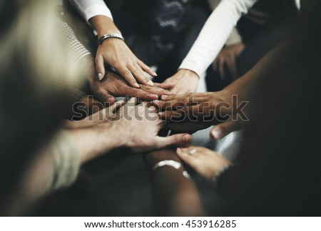 Teamwork Join Hands Support Together Concept #453916285
