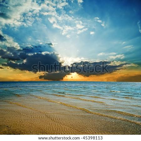 majestic sunset in a sea #45398113