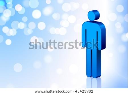 Male Stick Figure Original Vector Illustration EPS10 #45423982