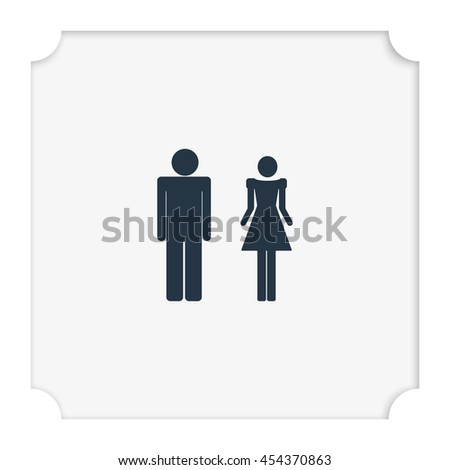 Man and woman icon. Restroom illustration. #454370863