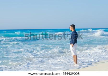 man at the sea  #454439008
