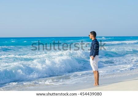 man at the sea  #454439080