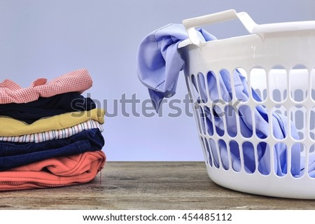 A studio photo of ironing and laundry items #454485112