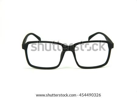 Black frame glasses without lenses #454490326