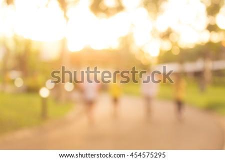 Jogging at park blur background #454575295