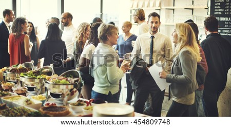 Business Meeting Eating Cheers Happiness Concept Royalty-Free Stock Photo #454809748
