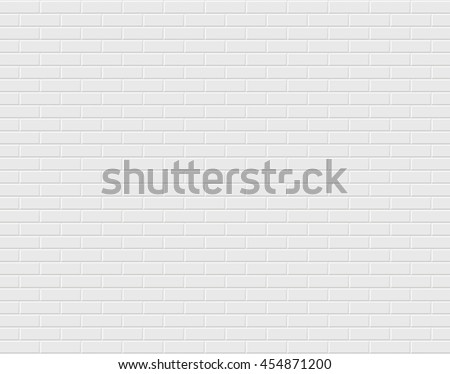 White brick wall. Vector background #454871200