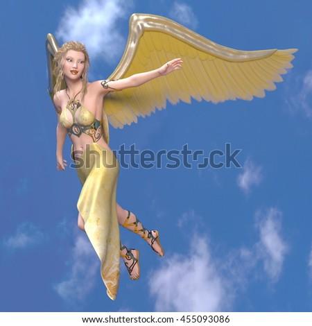3D CG rendering of an angel #455093086