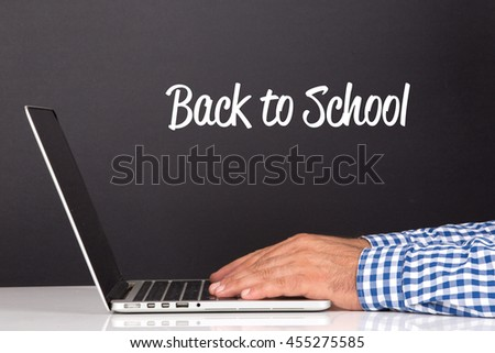 WORKING OFFICE COMMUNICATION PEOPLE USING COMPUTER BACK TO SCHOOL CONCEPT #455275585